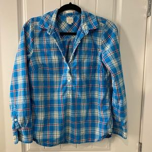 Plaid j crew shirt